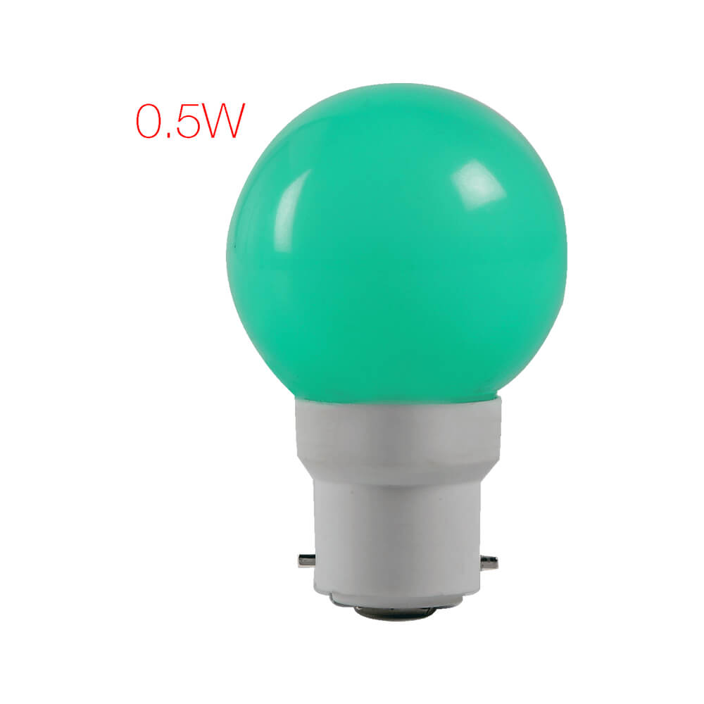 Adore LED 0.5W B22 Ball Lamp Green