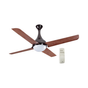 Dew 1320 mm Red Oak Black Nickel Fan