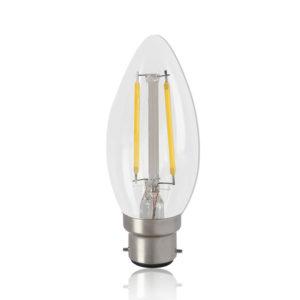 LED Filament Lamp 4W Candle WW B22