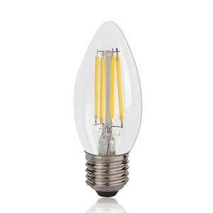LED Filament Lamp 2W Candle WW E27